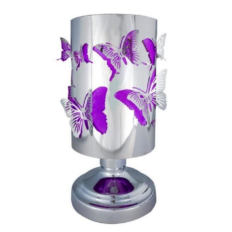 Lampe Sur Pied Diffuseur De Parfum Motif Papillon Violet regarding measurements 1200 X 1200