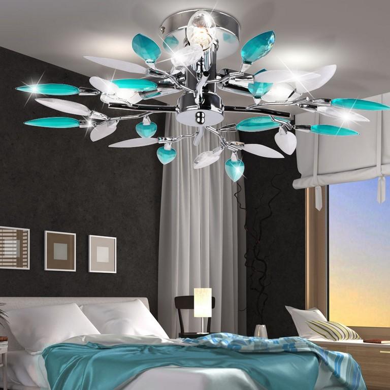 Led 3x3 Watt Decken Leuchte Blten Trkis Wohnzimmer Silber Rund 3 throughout proportions 1000 X 1000