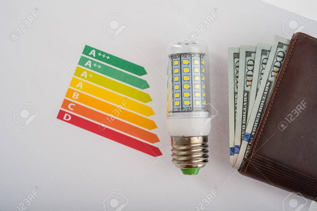 Led Energiesparlampe Fr Geld Zu Sparen Eco Konzept Led Lampe Ein intended for size 1300 X 867
