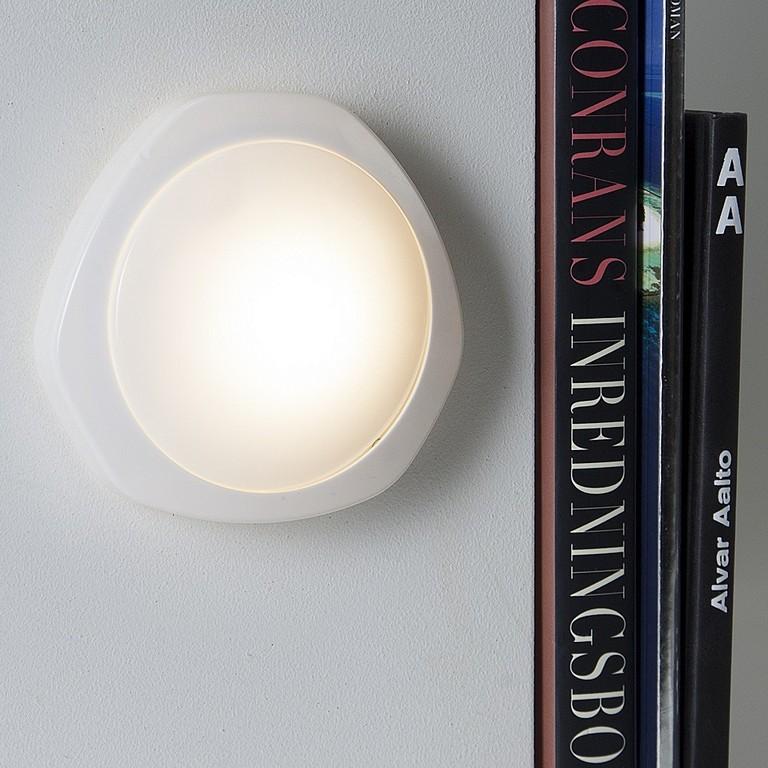 Led Lampe For Batteri Trykk Avp Hvit Diameter 12 Cm with regard to proportions 1000 X 1000