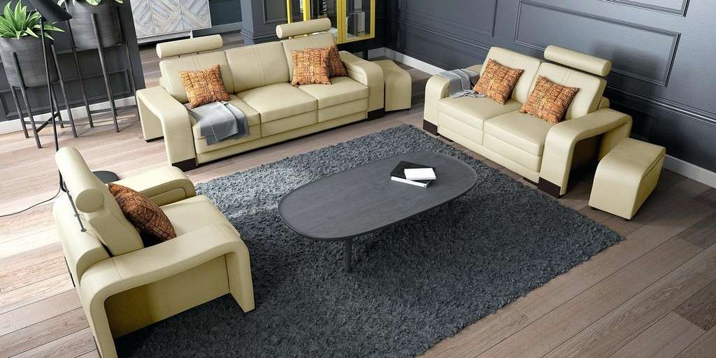 Ledersofa Beige Wohnzimmer Couchgarnitur Sitzer Category With Post inside proportions 1600 X 800