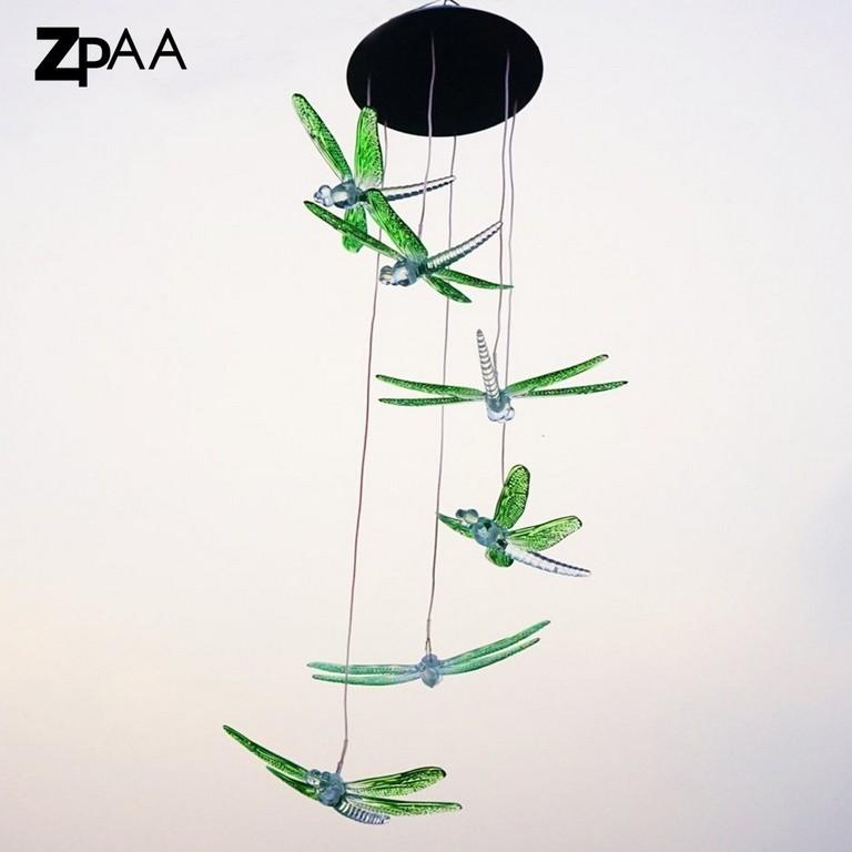 Libelle Led Solar Panel Windspiel Nachtlicht Farbwechsel Garten within dimensions 1000 X 1000