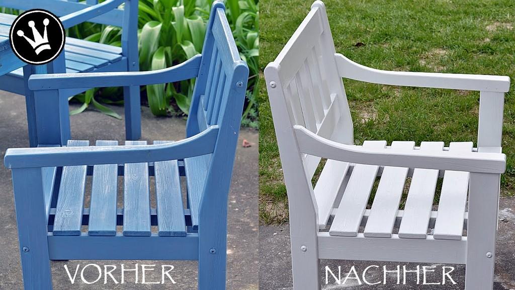 Lichen Dank Diy Gartenmbeloutdoormbel Wei Streichen Vorbereitung Und Anstrichaufbau within dimensions 1280 X 720