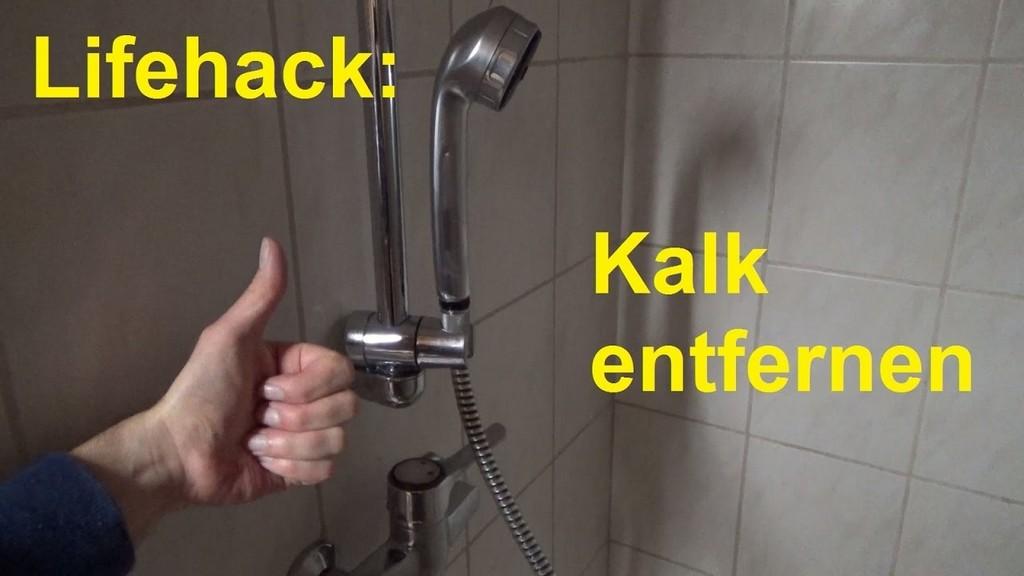 Lifehack Kalk Entfernen Im Badezimmer In Der Dusche Badewanne within size 1280 X 720