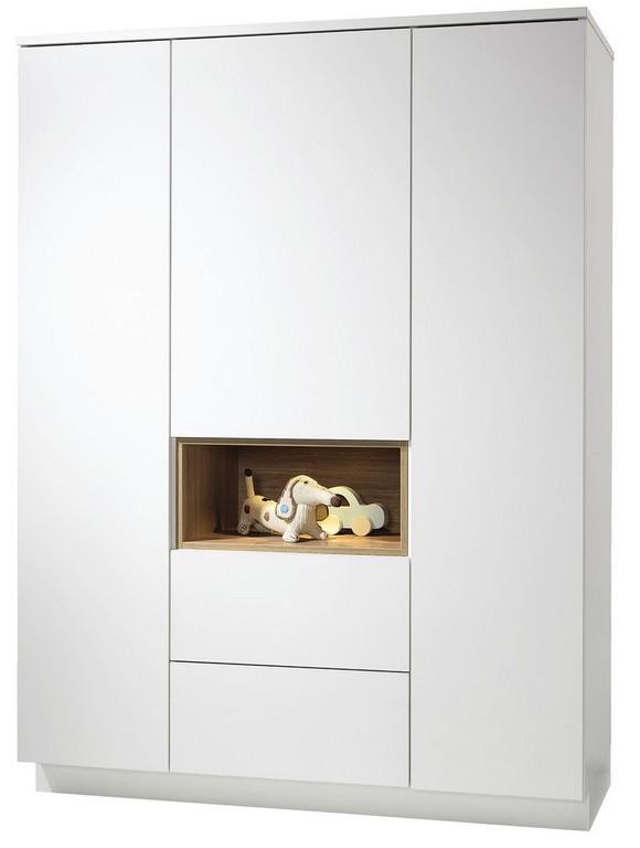 Malie Kleiderschrank 3 Trg Wellembel Holz 1358 X 186 X 58 throughout size 815 X 1080
