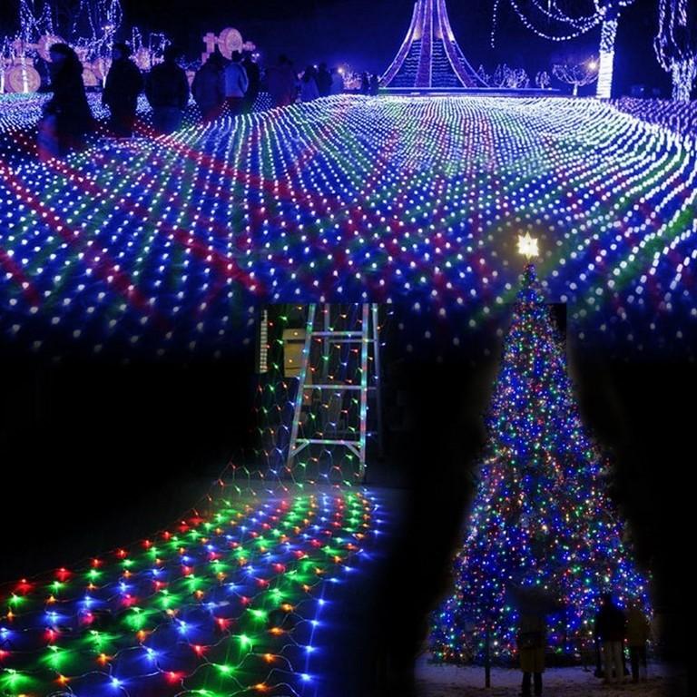 Markenlose Led Lichternetze Zur Weihnachtsdekoration Gnstig Kaufen with measurements 1000 X 1000