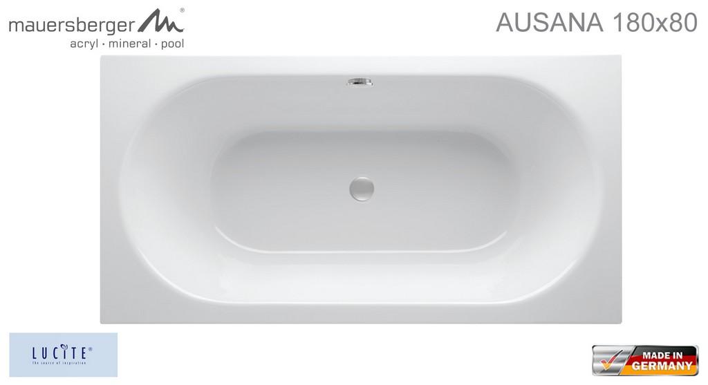 Mauersberger Badewanne Ausana 180 X 80 Cm Rechteck Acryl Impulsbad with regard to proportions 1536 X 835
