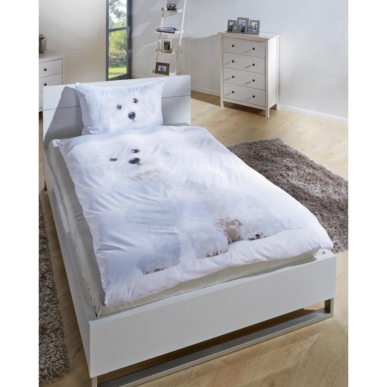 Microfaser Bettwsche Hund 135 X 200 Cm Dnisches Bettenlager pertaining to size 960 X 960