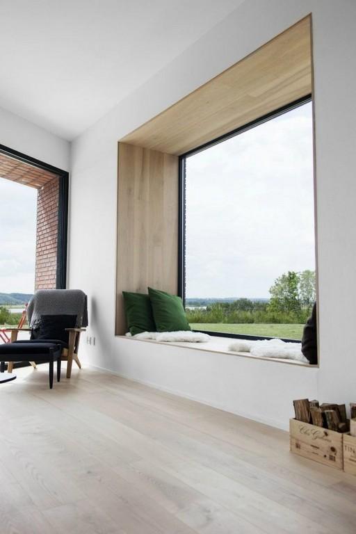 Minimalistische Fensterbank Zum Sitzen Mit Gemtlichen Polstern Und inside proportions 750 X 1126