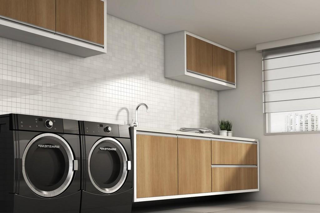 Moderne Elegante Waschkche Mbel Ideen Waschkche Aequivalere inside dimensions 1600 X 1067