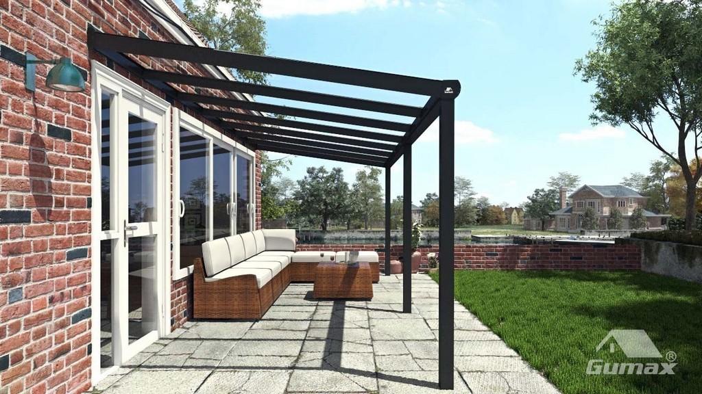 Moderne Terrassenberdachung In Matt Anthrazit 706 X 3 Meter Mit inside sizing 1280 X 720