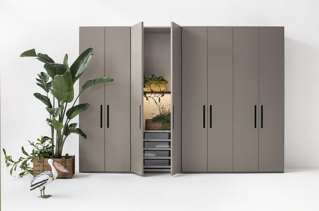 Moderner Kleiderschrank Mattlackiertes Holz Melamin within dimensions 2266 X 1500