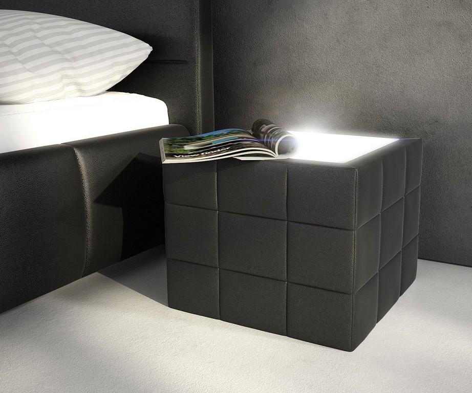 Nachttisch Nuncia 41x41cm Schwarz Beleuchtung Steppnaht Mbel Betten pertaining to dimensions 1200 X 1000