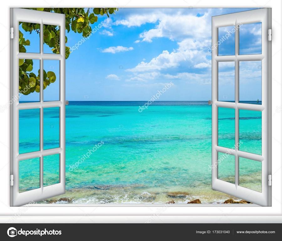 Ocean View Fenster Karibik Dominikanische Republik Stockfoto Db within size 1600 X 1366