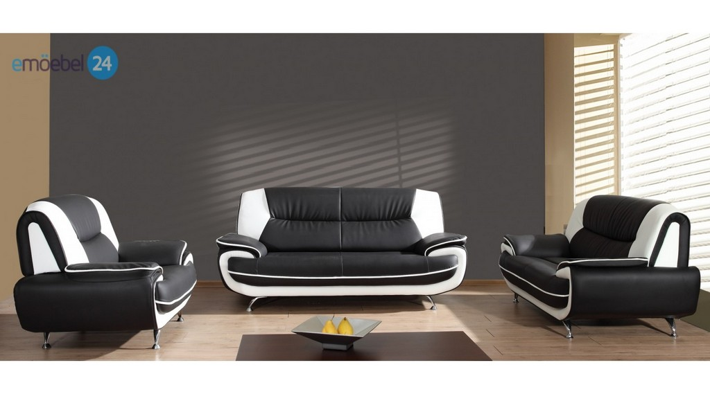 Onyx Set 3 2 1 Sofa Couch Pu Industrieleder Kunstleder Emoebel24 intended for proportions 1440 X 800