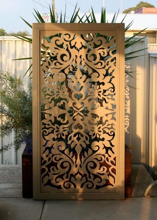 Paravent De Jardin Design En Acier Ajour Orn Darabesques for size 750 X 1052