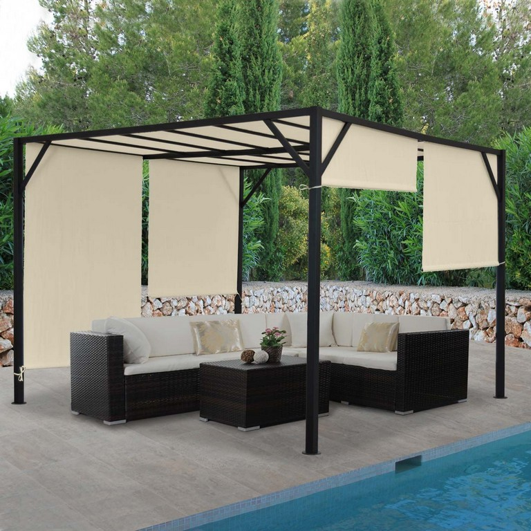 Pergola Baia Garten Pavillon Terrassenberdachung Stabiles 6cm with regard to proportions 1400 X 1400