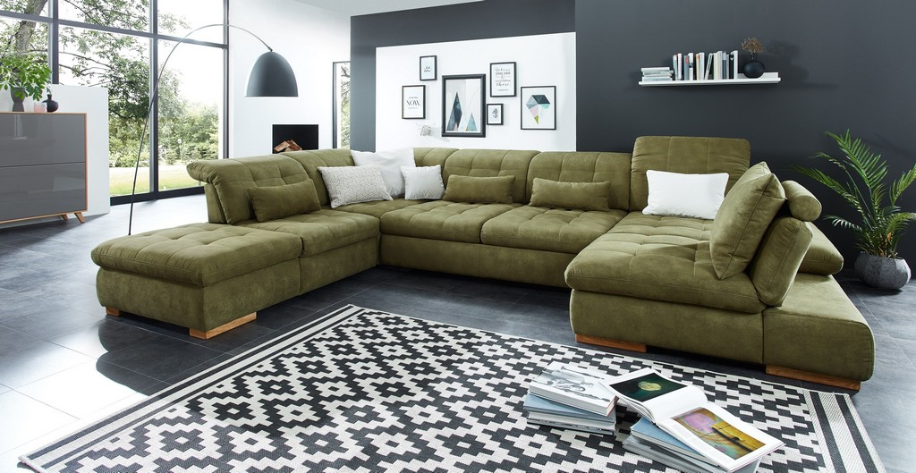 Poco Polstermbel Houston Sofa In U Form Grn Mbel Letz Ihr pertaining to sizing 3840 X 1985