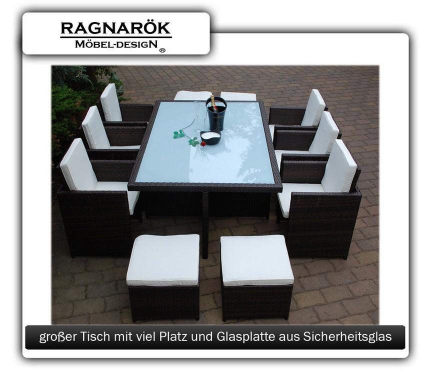 Poly Rattan Gartenmbel 64 Braun Ragnark Mbeldesign Garten with regard to sizing 950 X 837