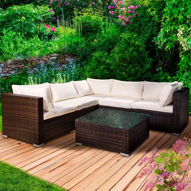 Poly Rattan Gartenmbel Lounge Mbel Sitzgarnitur Gartengarnitur in measurements 1200 X 1200