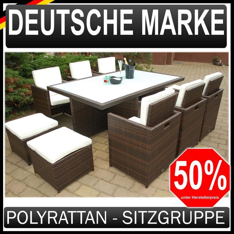 Polyrattan Gartenmbel 64 Garten Garnitur Sitzgruppe Braun Ragnark for proportions 1000 X 1000
