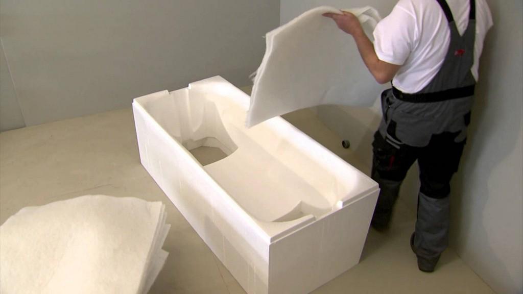 Poresta Systems Montage Badewannentrger Mit Schallschutzset Auf in sizing 1920 X 1080