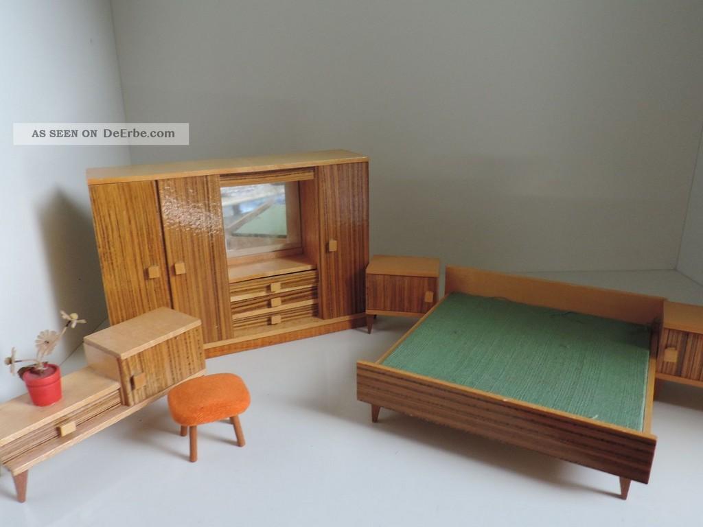 Puppenstubenmbel Schlafzimmer 50er 60er Jahre Holz within proportions 1600 X 1200