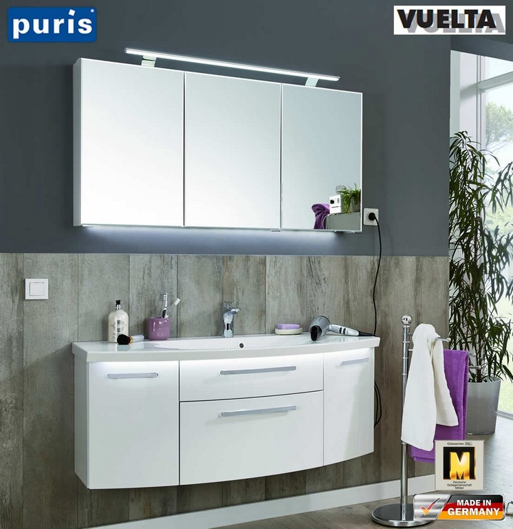 Puris Vuelta Badmbel Set 121 Cm Mit Mineralmarmor Waschtisch Und within measurements 1103 X 1136