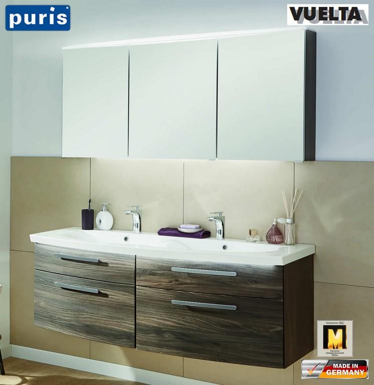Puris Vuelta Badmbel Set 141 Cm Mit Doppelwaschtisch Und intended for proportions 1103 X 1136