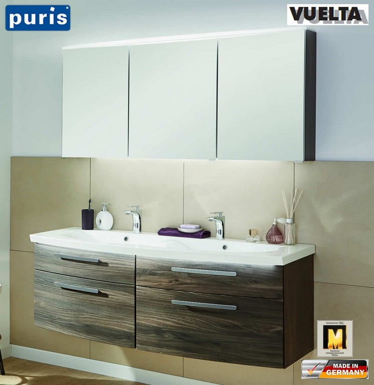 Puris Vuelta Badmbel Set 141 Cm Mit Doppelwaschtisch Und pertaining to dimensions 1103 X 1136
