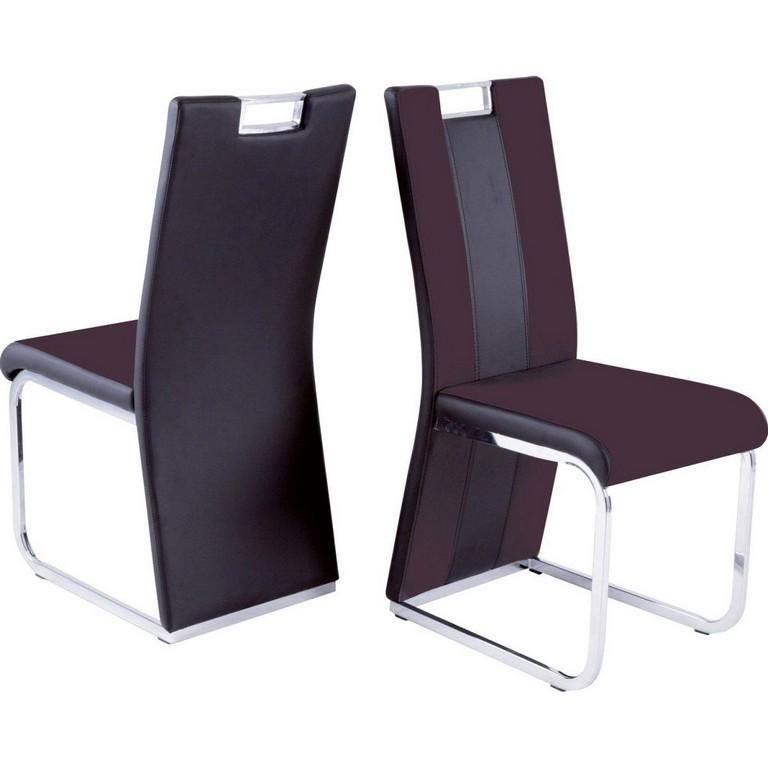 Reality Hochlehner Stuhl Bari 3 4er Set Leder Look Dunkelbraun Jetzt intended for proportions 1200 X 1200