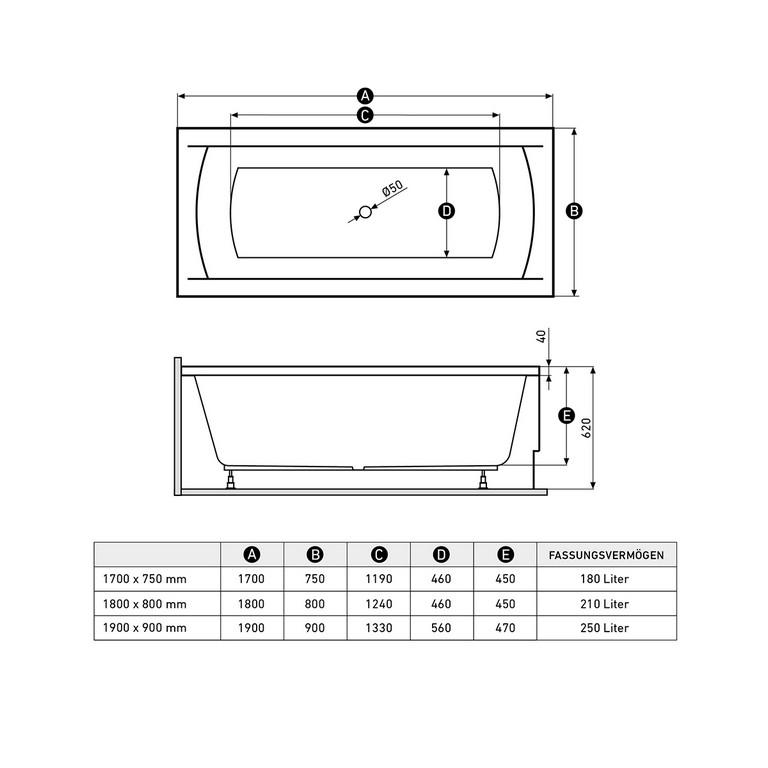 Rechteck Badewanne Aus Acryl Mit Trger in dimensions 1200 X 1200