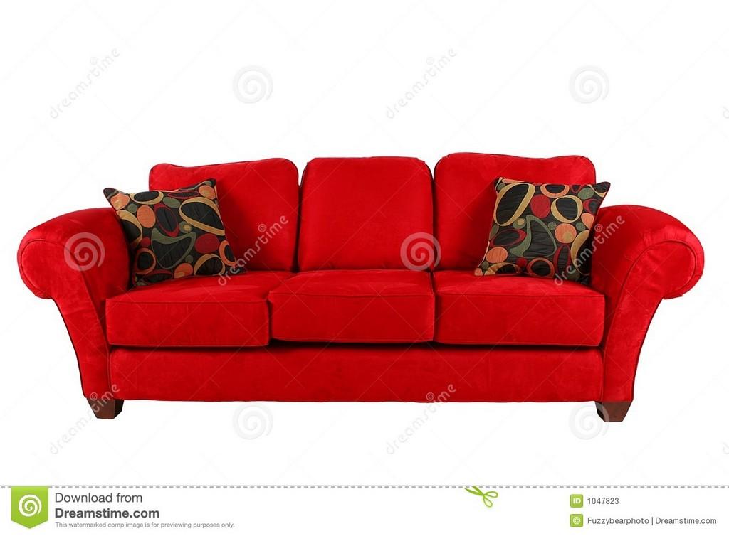 Rotes Sofa Mit Modernen Kissen Stockbild Bild Von Davenport Couch throughout size 1300 X 957