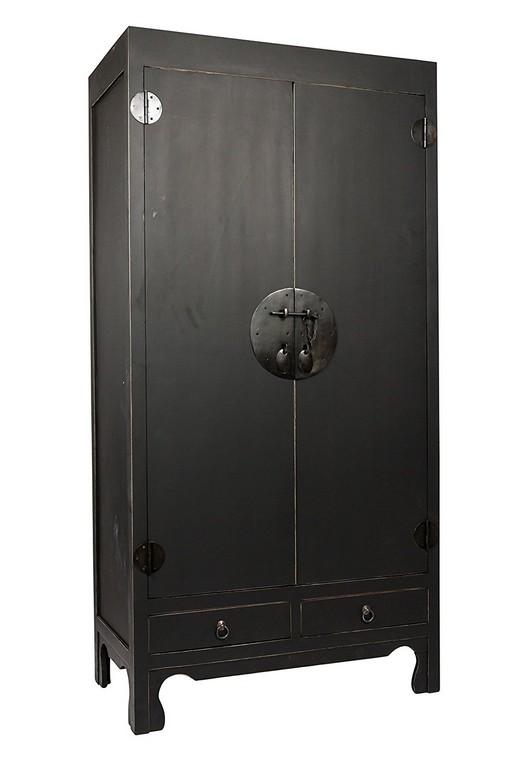 Sam B Ware 117 Schrank Massivholz Mahagoni Schwarz 90x50x180 Cm within size 1000 X 1500
