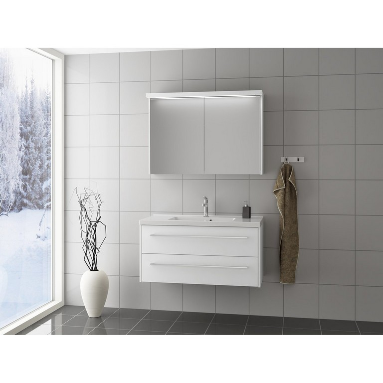 Scanbad Badmbel Set 80 Cm Mit Spiegelschrank Fox Wei Matt 3 Teilig pertaining to size 1500 X 1500
