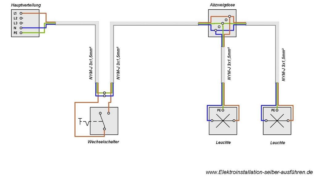 Schaltplan Einer Ausschaltung Von Zwei Lampen Elektrische throughout dimensions 1366 X 768