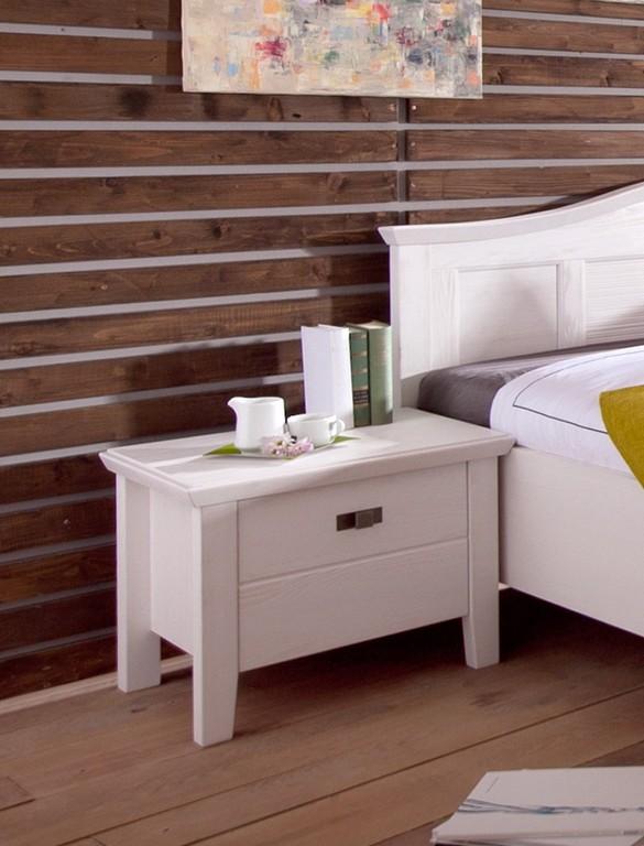 Schlafzimmer Cassa Pinie Wei Bett 180x200 Doppelbett Nachttisch regarding measurements 800 X 1050
