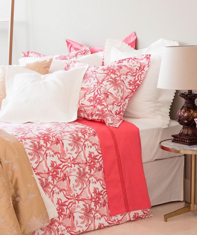 Schlafzimmer Einrichten Mit Zara Home Bettwsche In Wei Und Pink regarding sizing 1599 X 1905
