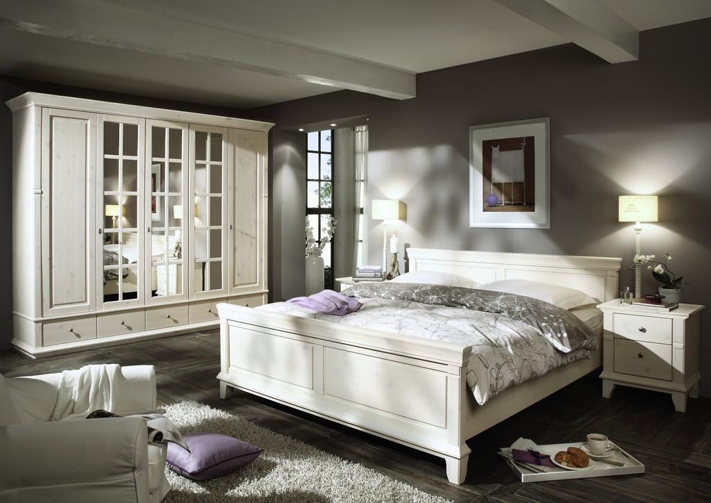 Schlafzimmer Georgia Kiefer Massiv Wei inside sizing 3000 X 2121