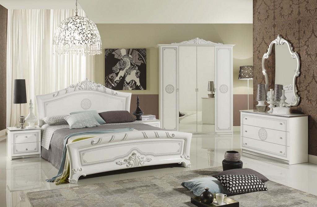 Schlafzimmer Great Weiss Silber Klassische Design Italienisch 18 intended for dimensions 1800 X 1174