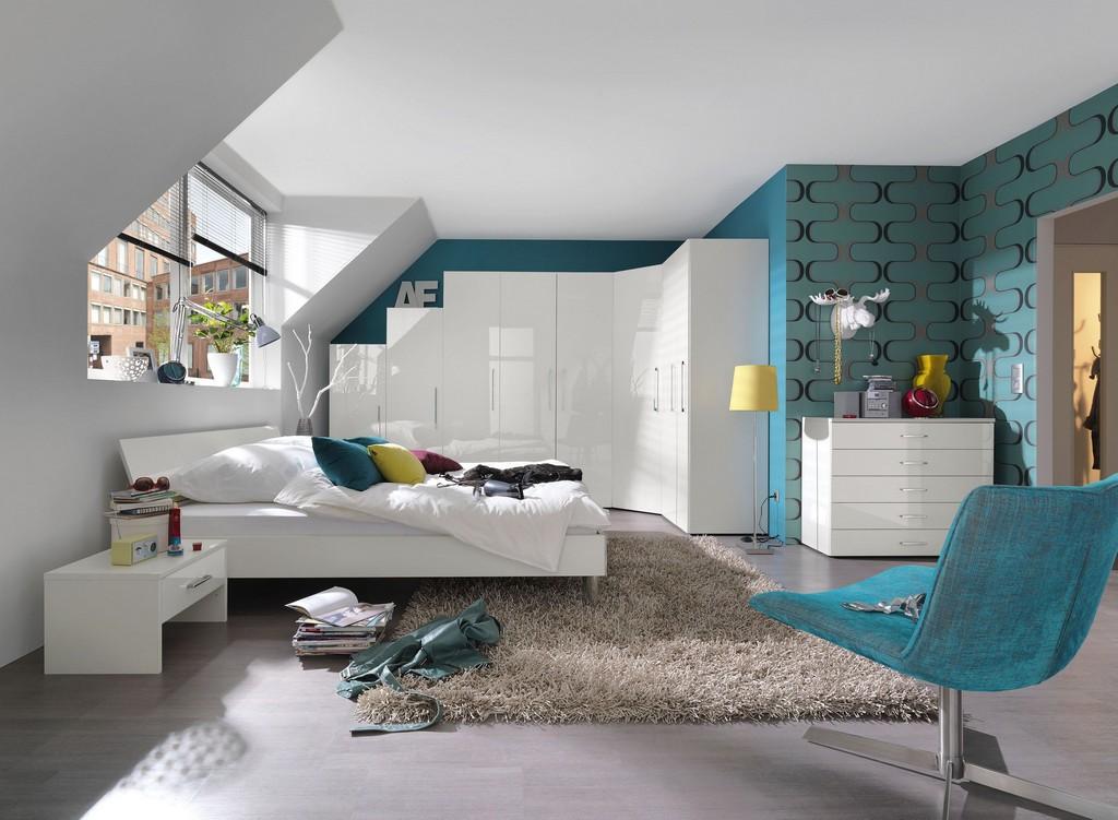 Schlafzimmer Jugendzimmer Komplett Alpinweiss Hochglanz Lackiert for sizing 4000 X 2932