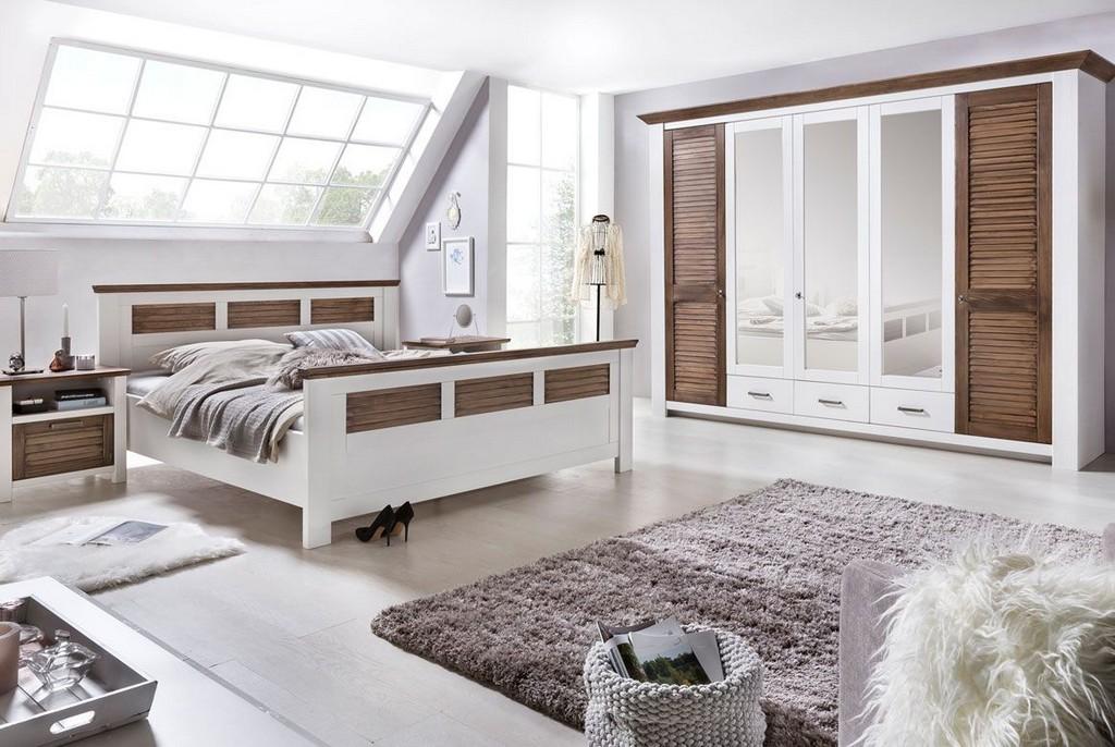 Schlafzimmer Landhausstil Laguna Kiefer Teilmassiv P05 pertaining to size 1164 X 780