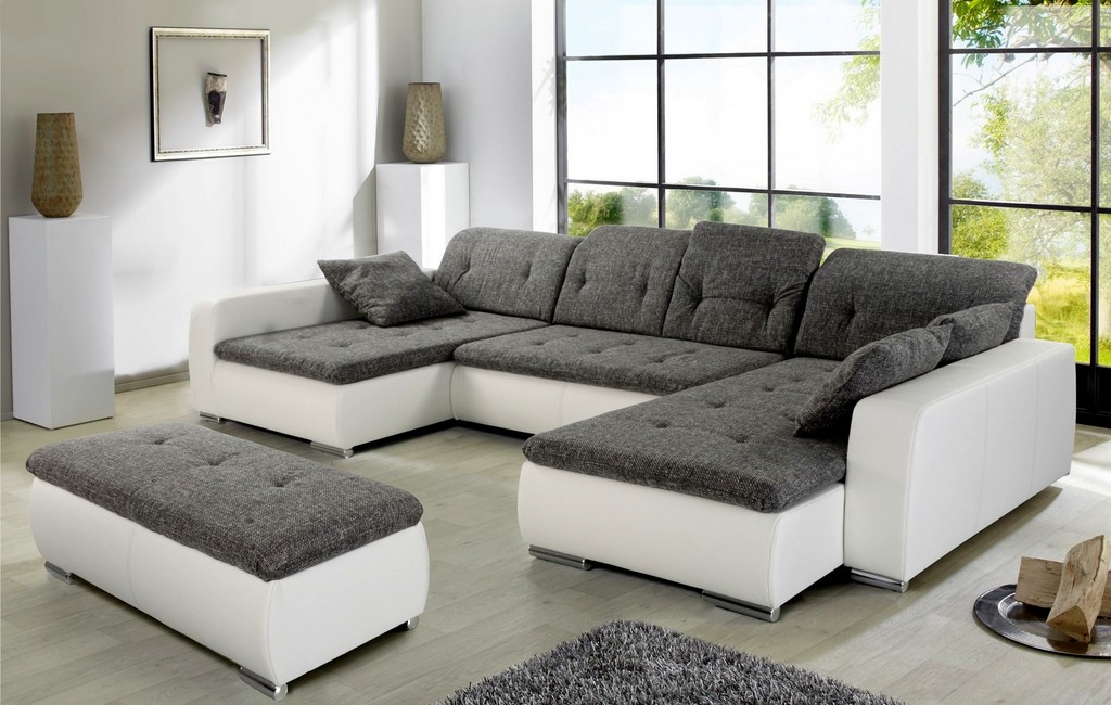 Schn Couch Grau Wei Ansprechend Wei C3 9f U Form Ahnung 9333 Haus inside proportions 1600 X 1016