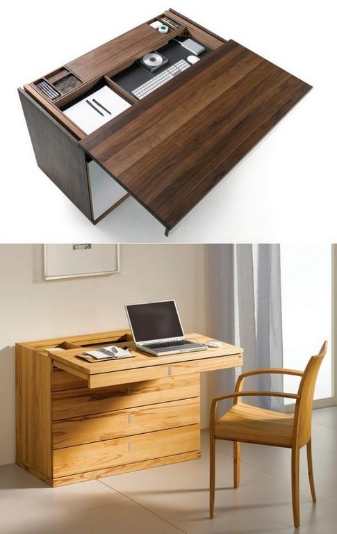 Schreibtisch Mit Schiebbarer Tischplatte Und Geheimfach Zuknftige in size 750 X 1187