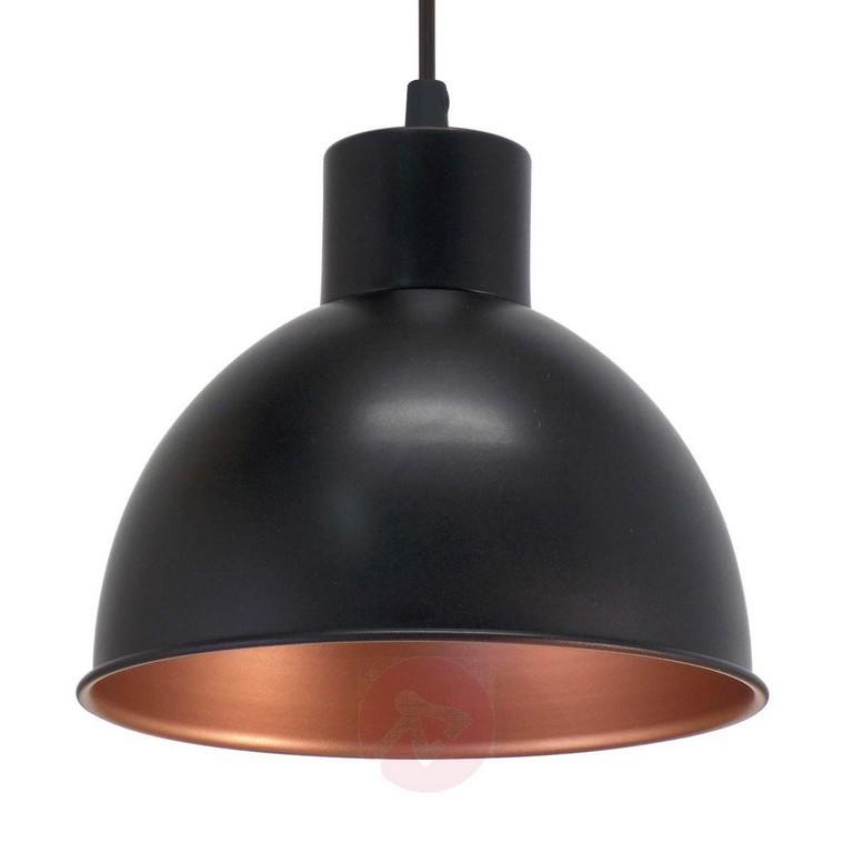 Schwarze Hngeleuchte Andrin Innen Kupfer Kaufen Lampenweltde throughout proportions 1200 X 1200