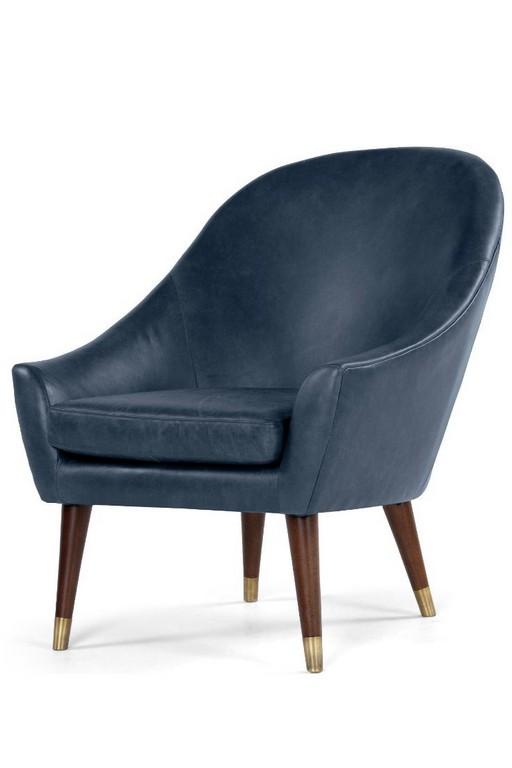 Seattle Sessel Aus Premium Leder In Oxford Blau Antikleder Trifft inside dimensions 736 X 1104