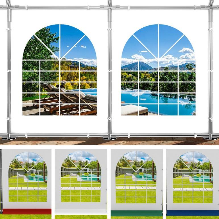 Seitenwand Seitenteil Plane Fenster 2x2m Fr Partyzelt Pavillon throughout sizing 1000 X 996