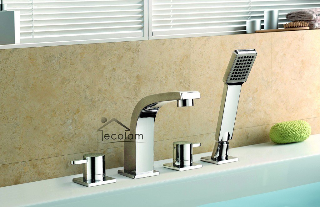Set Badewannenarmatur Handbrause Badewanne Armatur Chrom Wannenrand with regard to size 4164 X 2689