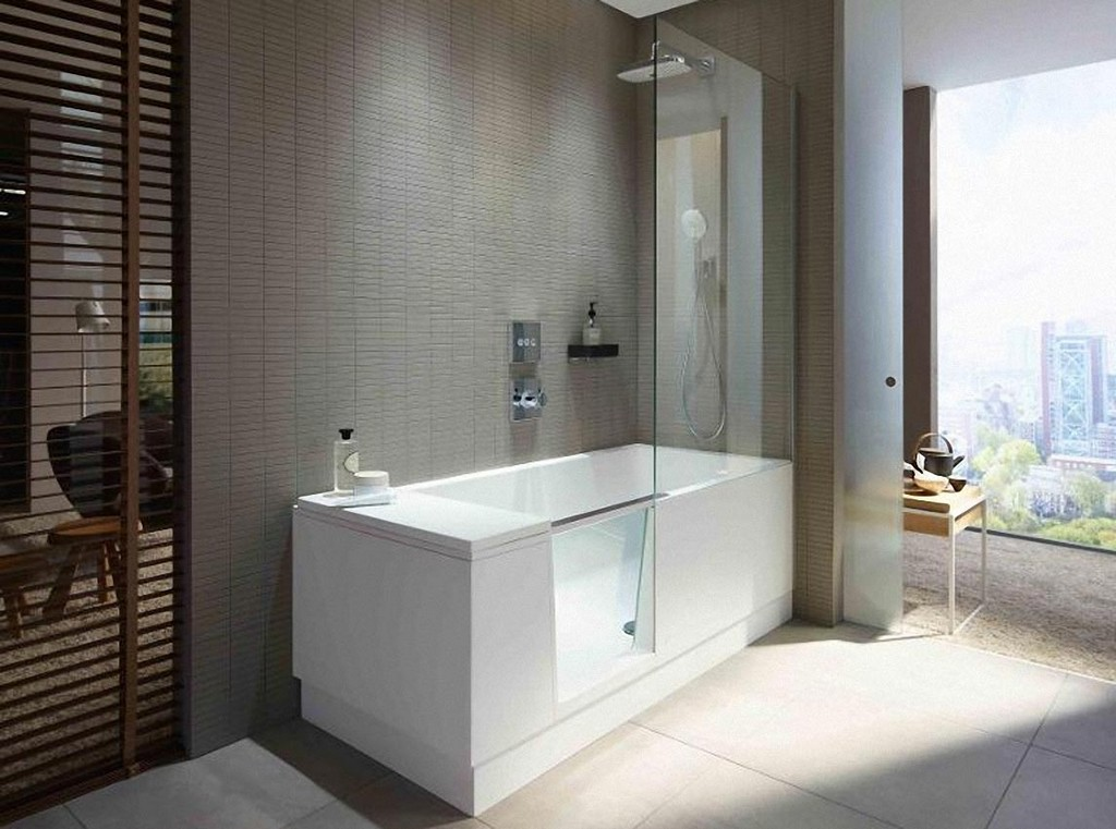 Shower Bath Walk In Dusche Und Badewanne La Duravit inside measurements 1144 X 850