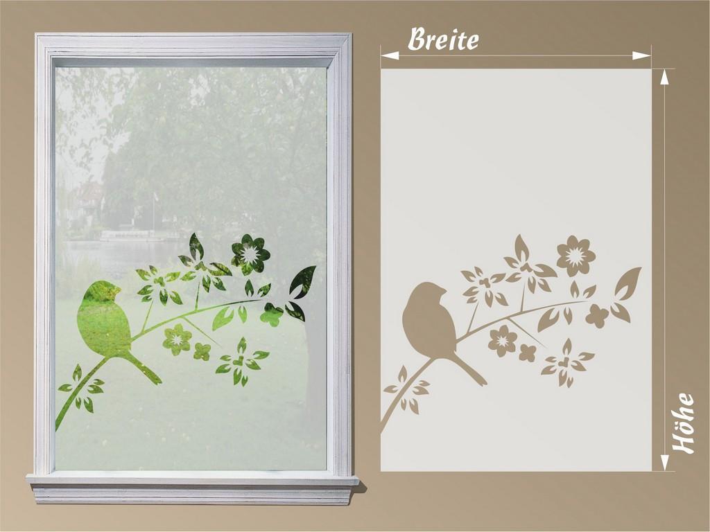 Sichtschutzfolie Fensterfolie Vogel Auf Ast for measurements 2363 X 1773